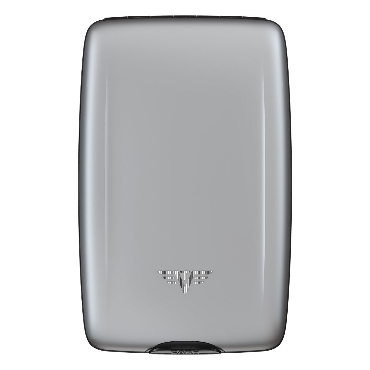 TRU VIRTU Aluminum Wallet Oyster Cash & Cards - Silk Line - Silver