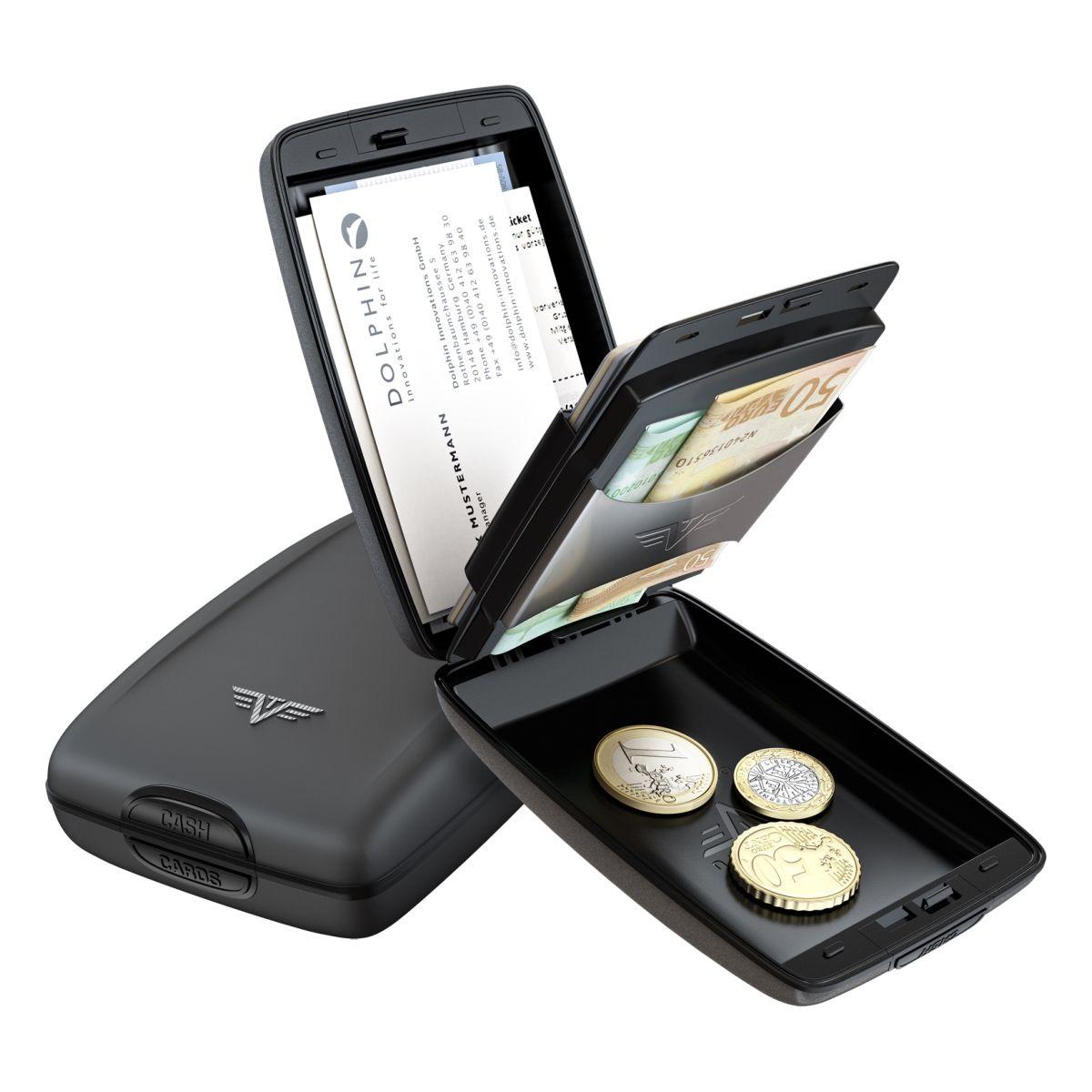 TRU VIRTU Aluminum Wallet Oyster Cash & Cards - Silk Line - Taupe