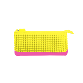 UPixel Pencil Case - Yellow/Fuschia