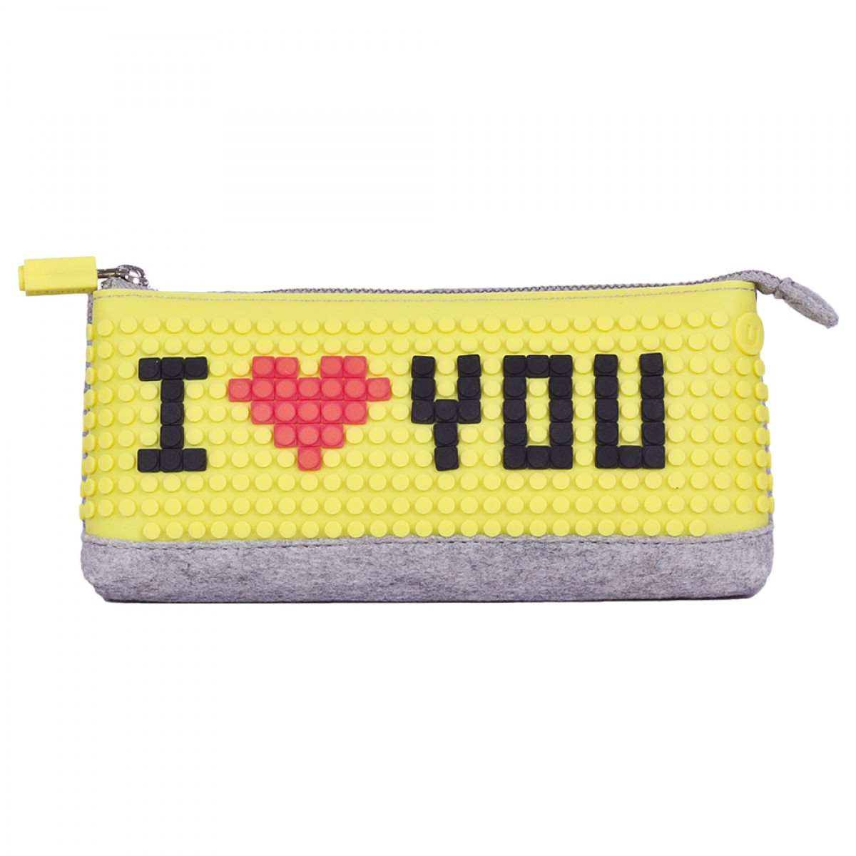 UPixel Pencil Case - Yellow/Purple