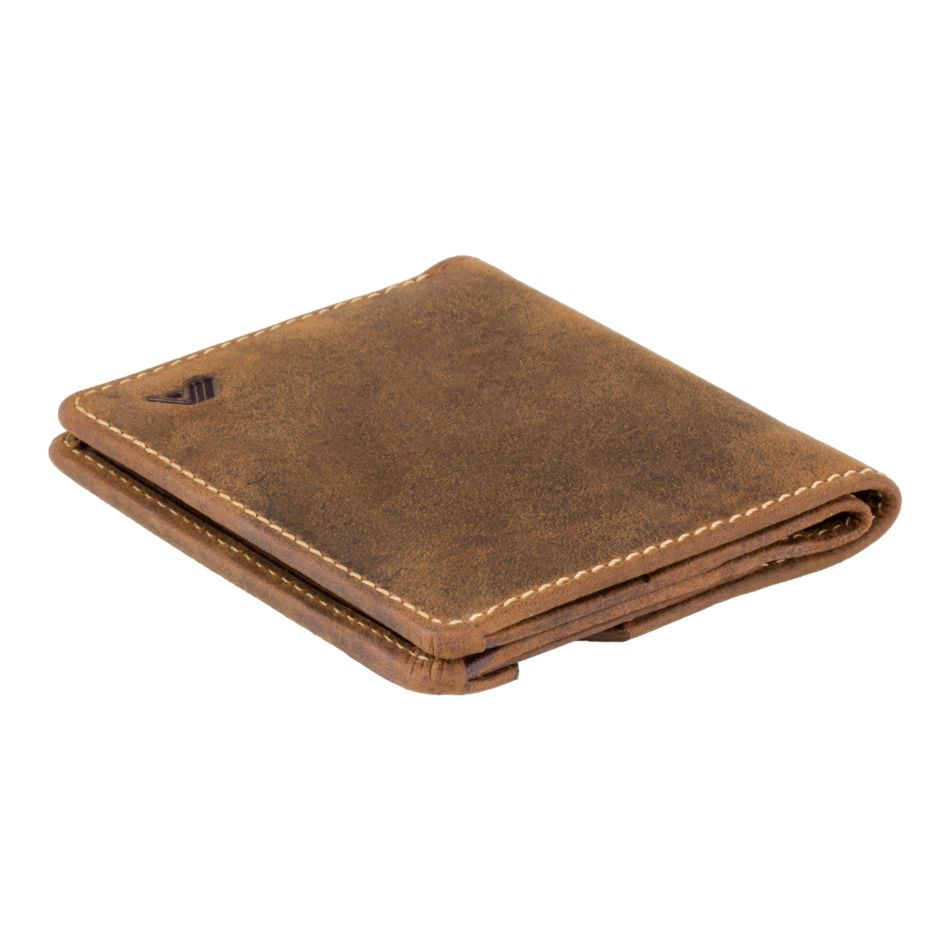 A-SLIM Leather Wallet Chikara - Row Brown