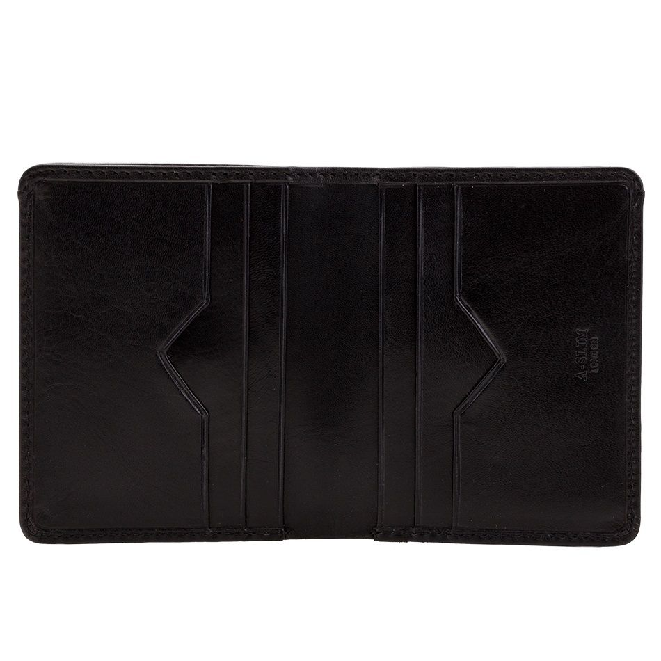 A-SLIM Leather Wallet Chikara - Black