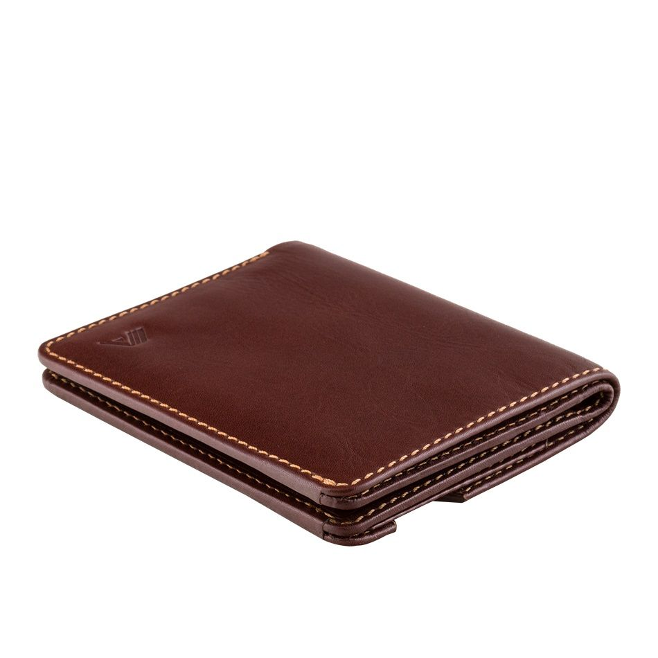 A-SLIM Leather Wallet Chikara - Mahogany Brown