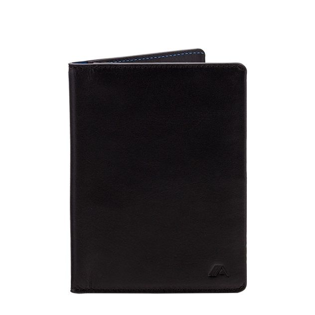 A-SLIM Leather Passport Holder Hoshi - Black