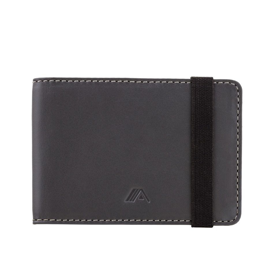 Leather Wallet Kihaku - Grey