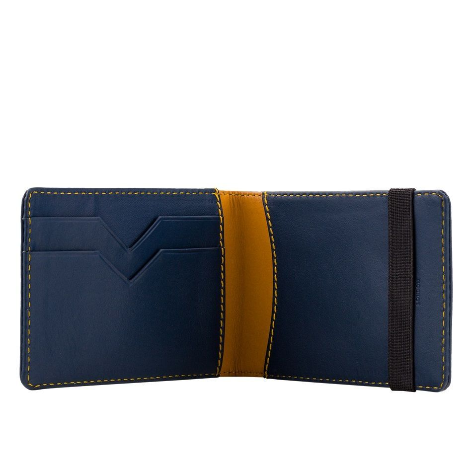 A-SLIM Leather Wallet Kihaku - Blue