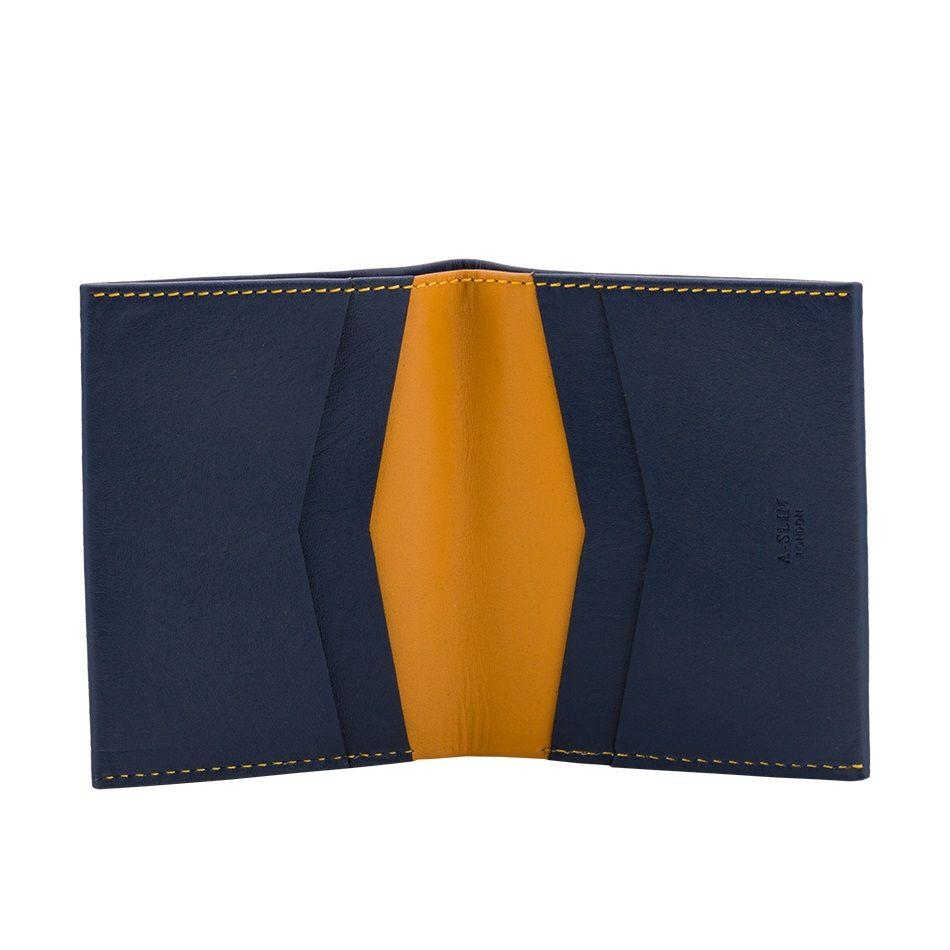 b5f7e6b2fa50 A-SLIM Leather Wallet Machete - Blue Yellow