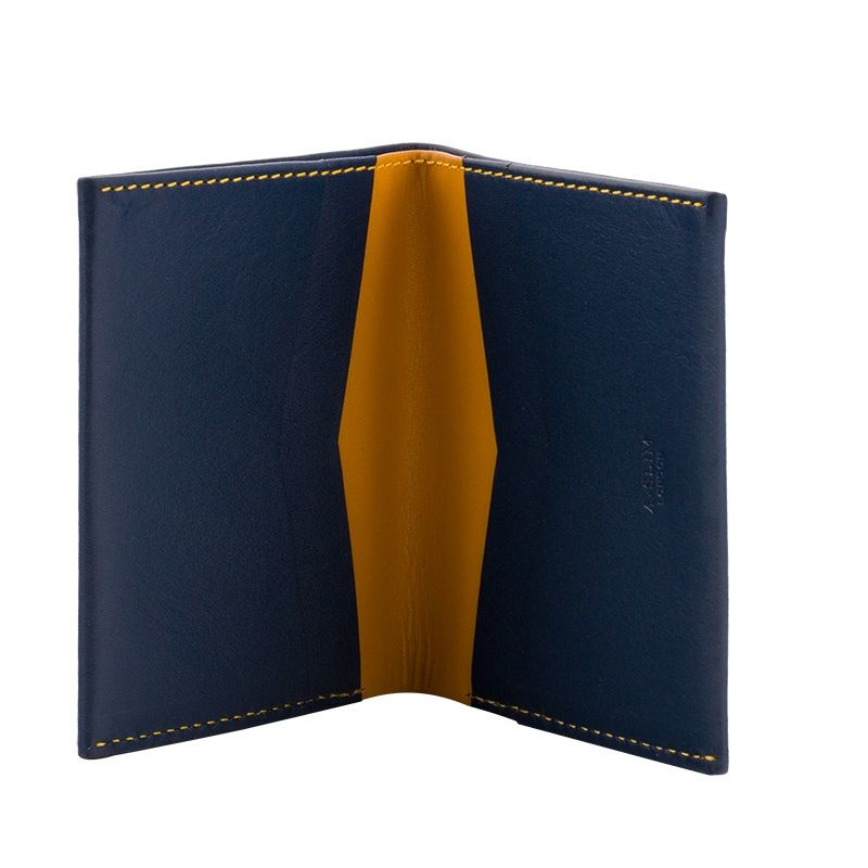 A-SLIM Leather Wallet Machete - Blue/Yellow