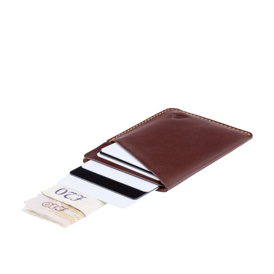 A-SLIM Minimalist Leather Wallet Ninja - Brown