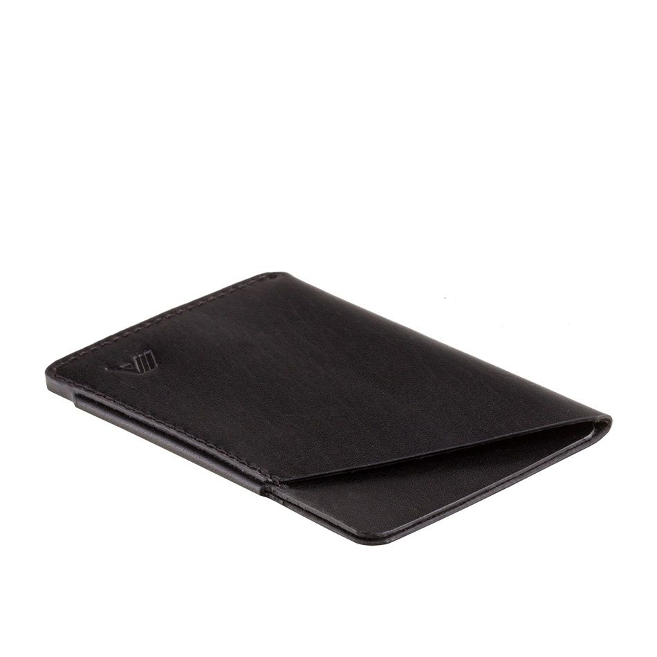A-SLIM Minimalist Leather Wallet Ninja - Black
