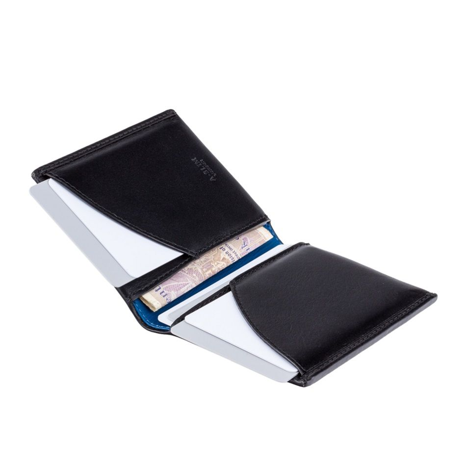 f1b6243a0ea5 A-SLIM Leather Wallet Origami - Blue Yellow