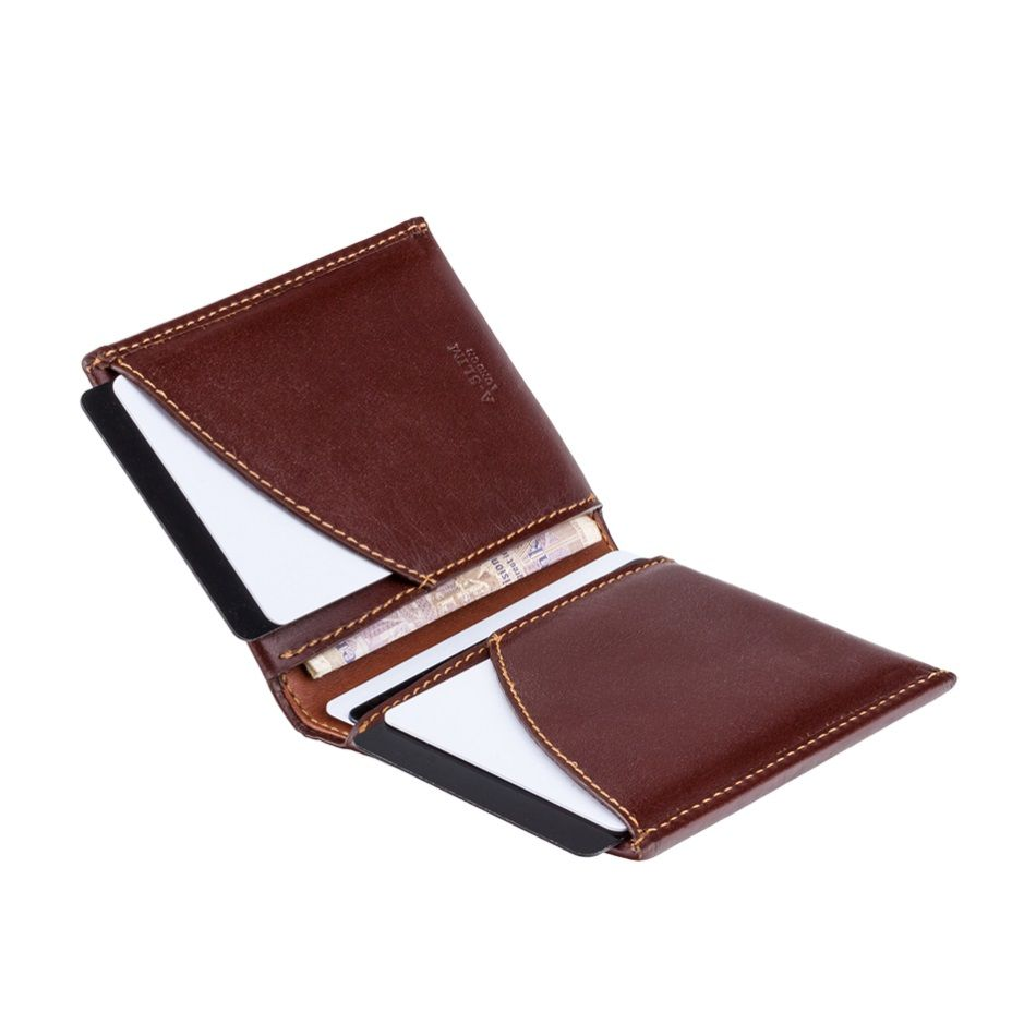 Leather Wallet Origami - Brown