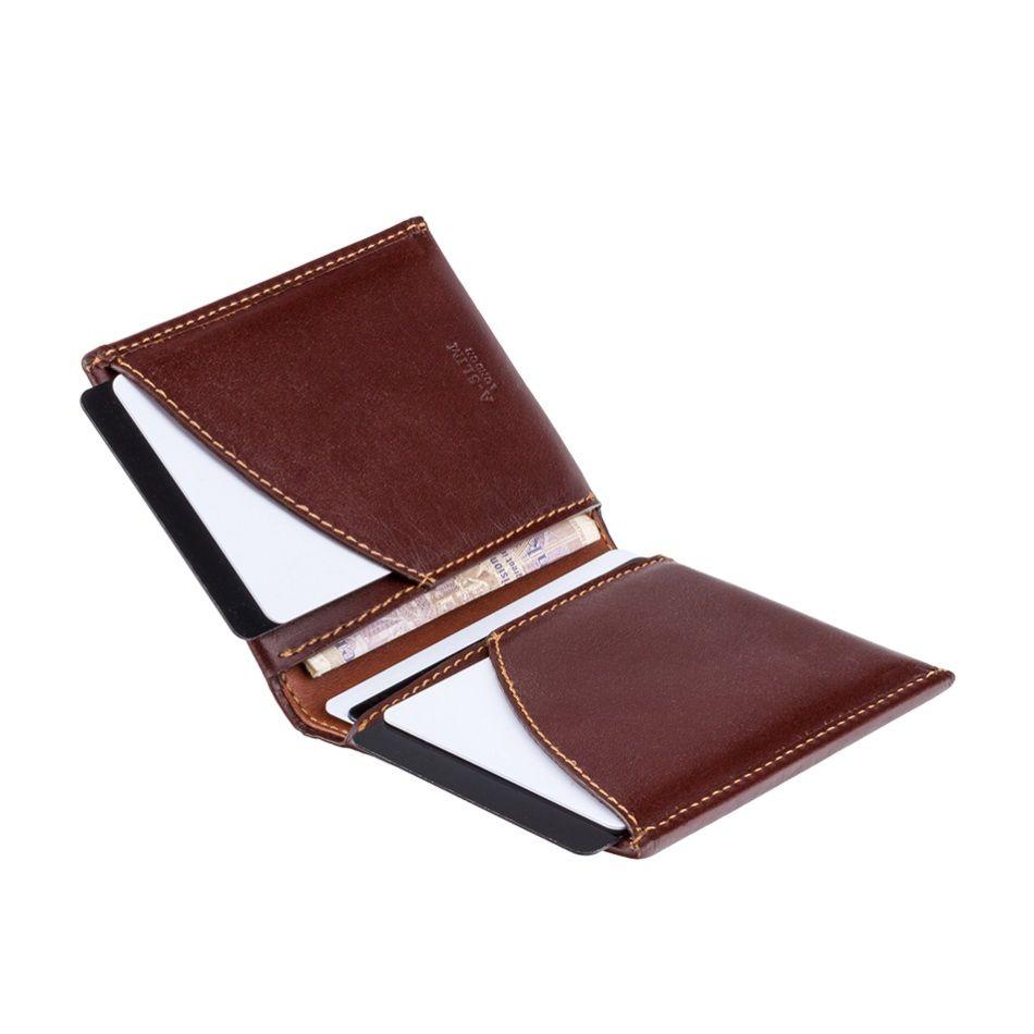 b2a2a20b2b33 A-SLIM Leather Wallet Origami - Brown