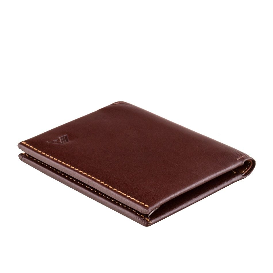 A-SLIM Leather Wallet Origami - Brown