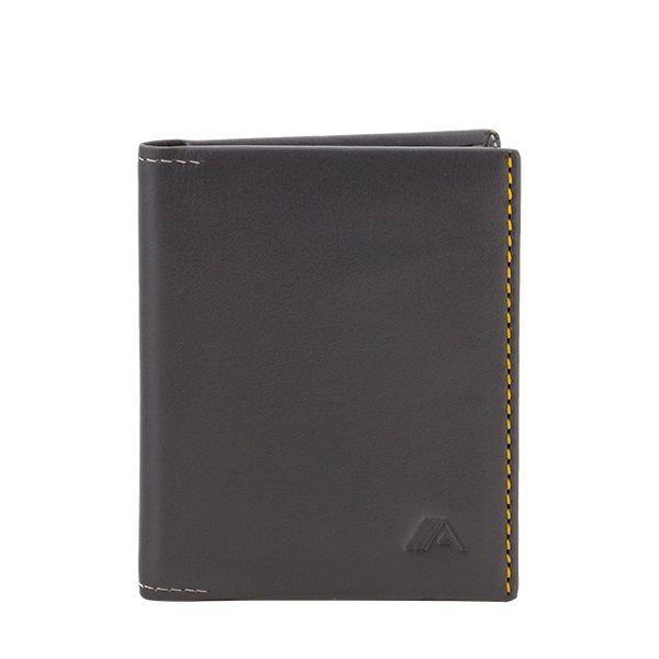 A-SLIM Leather Wallet Origami - Grey