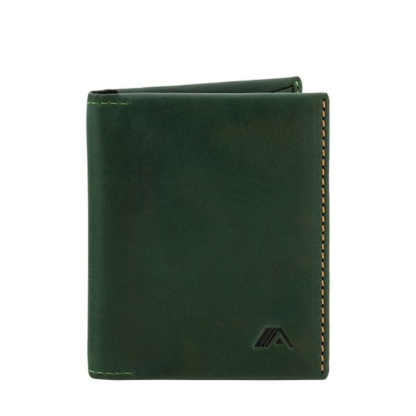 6dd4fc2e981c A-SLIM Leather Wallet Origami Green - Wallets Brands