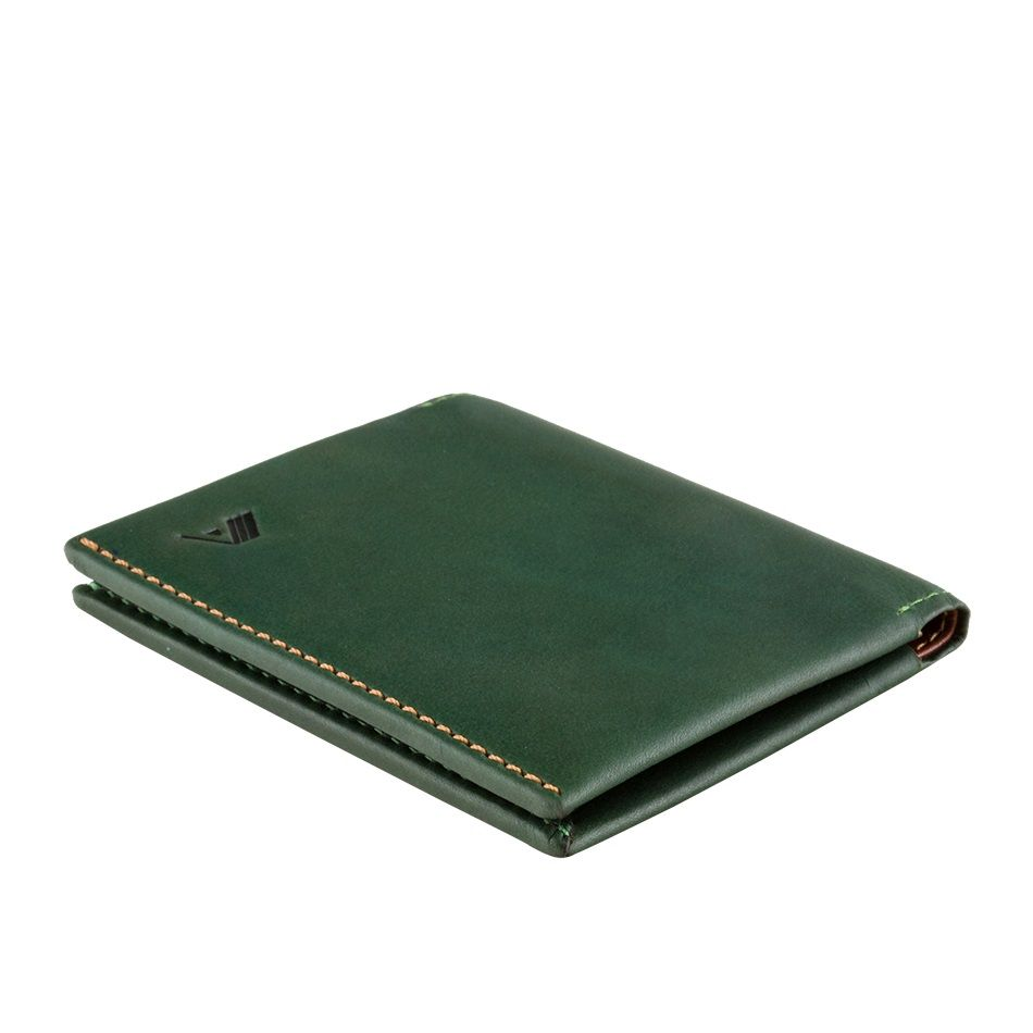05aa6cb99398 A-SLIM Leather Wallet Origami - Green