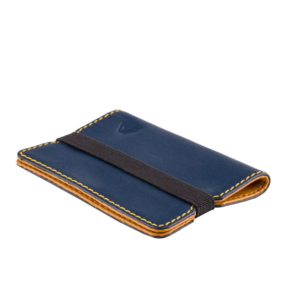 A-SLIM Minimalist Leather Wallet Reza - Blue/Yellow