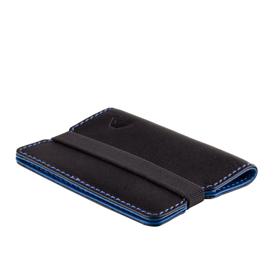 A-SLIM Minimalist Leather Wallet Reza - Black/Blue