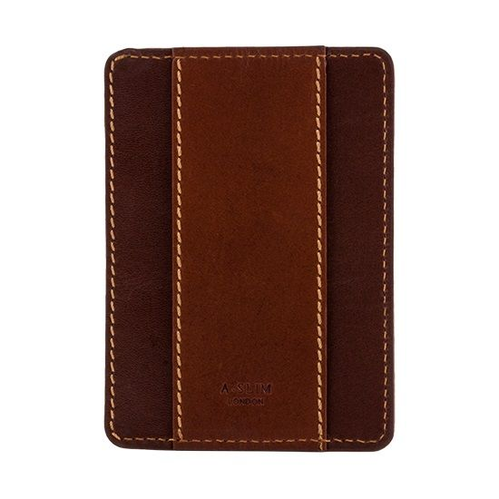 A-SLIM Minimalist Leather Wallet Sunnari - Brown