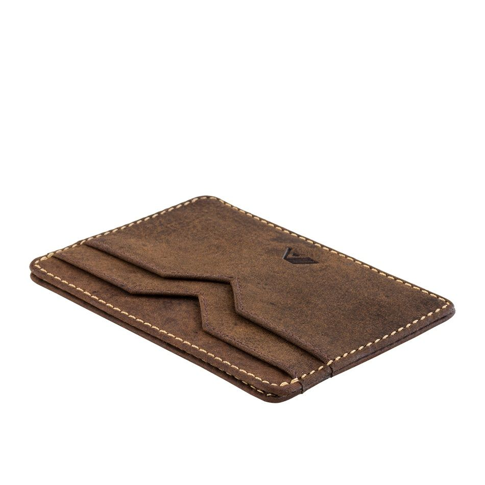 A-SLIM Minimalist Leather Wallet Yaiba - Brown