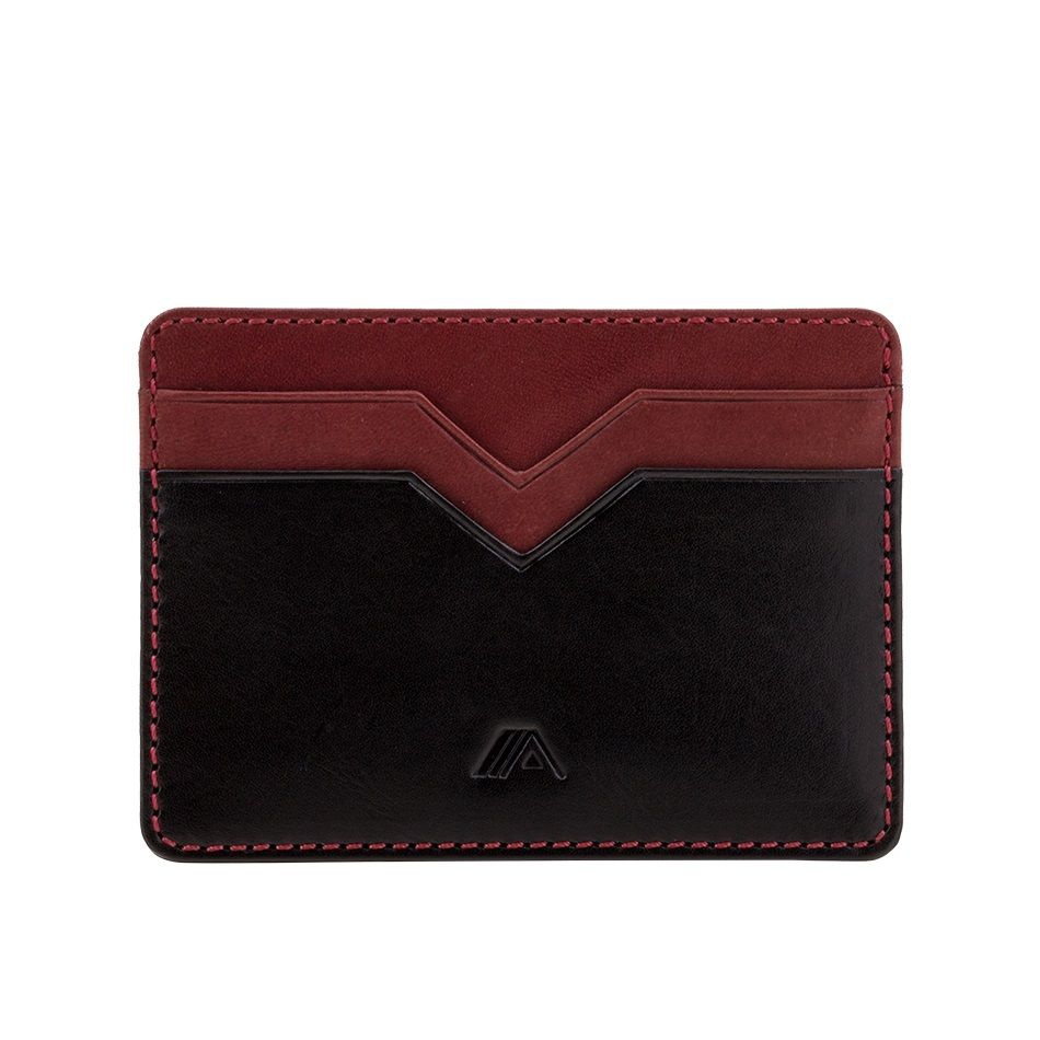 A-SLIM Minimalist Leather Wallet Yaiba - Black