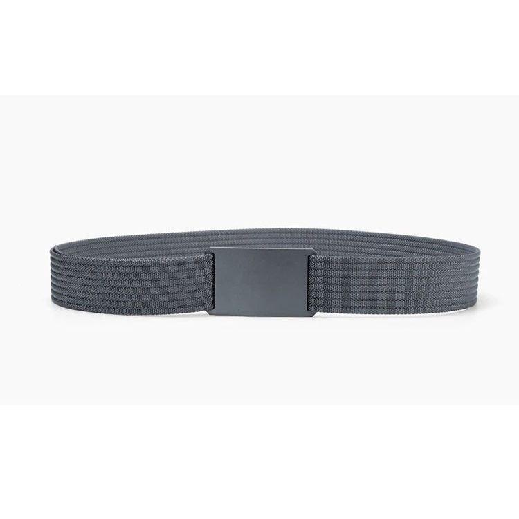 WALLET Canvas Flat Buckle Belt - Grey