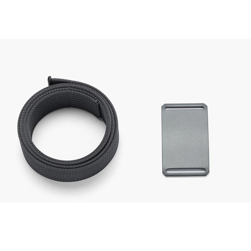 WALLET חגורה שטוחה ללא חורים - שחור\כסוף