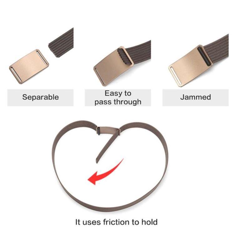 WALLET חגורה שטוחה ללא חורים - שחור