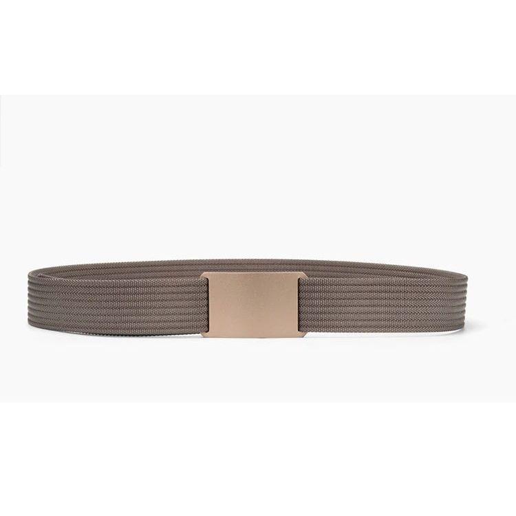 WALLET Canvas Flat Buckle Belt - Brown