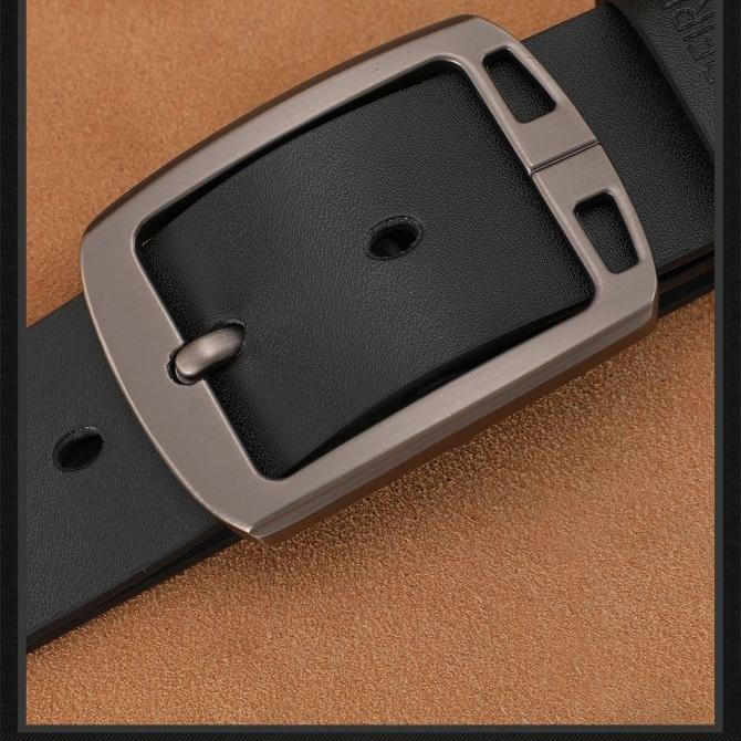 COOLERFIRE Mens Genuine Italian Leather Belt - Black