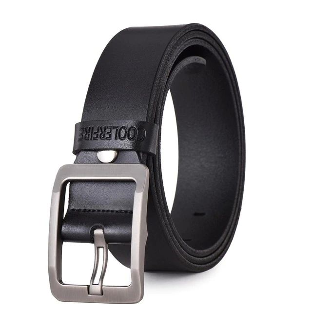 Mens Genuine Italian Leather Belt - Black