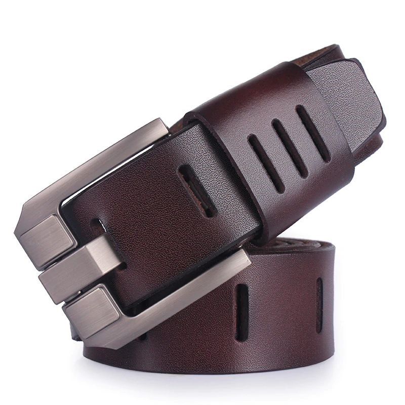 Mens Genuine Italian Leather Belt - Dark Brown