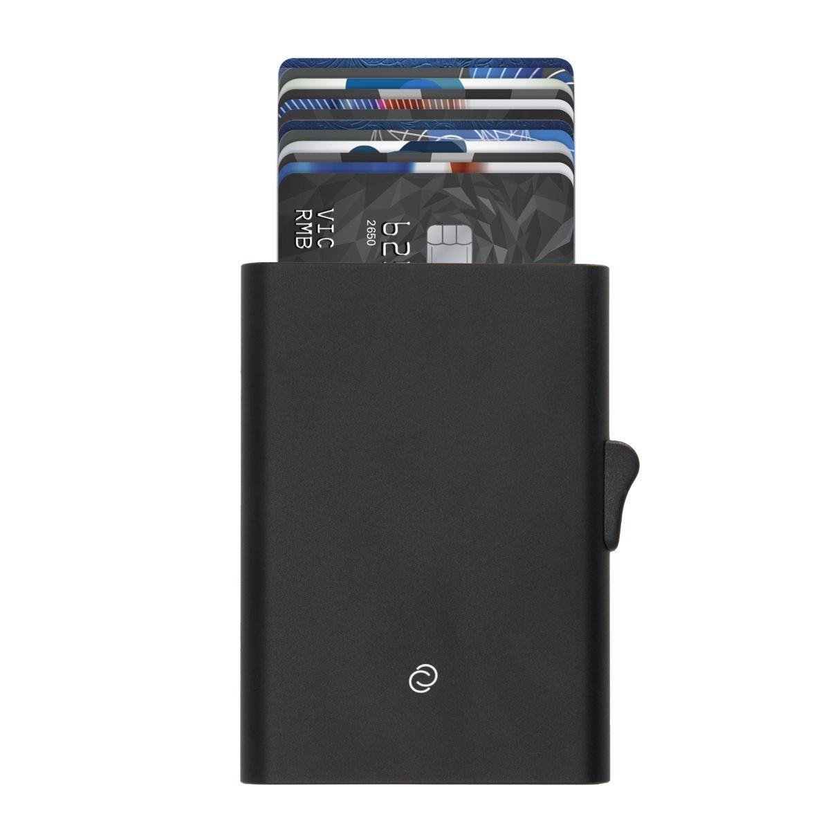 C-Secure ארנק אלומיניום מינימלסטי דגם XL - שחור