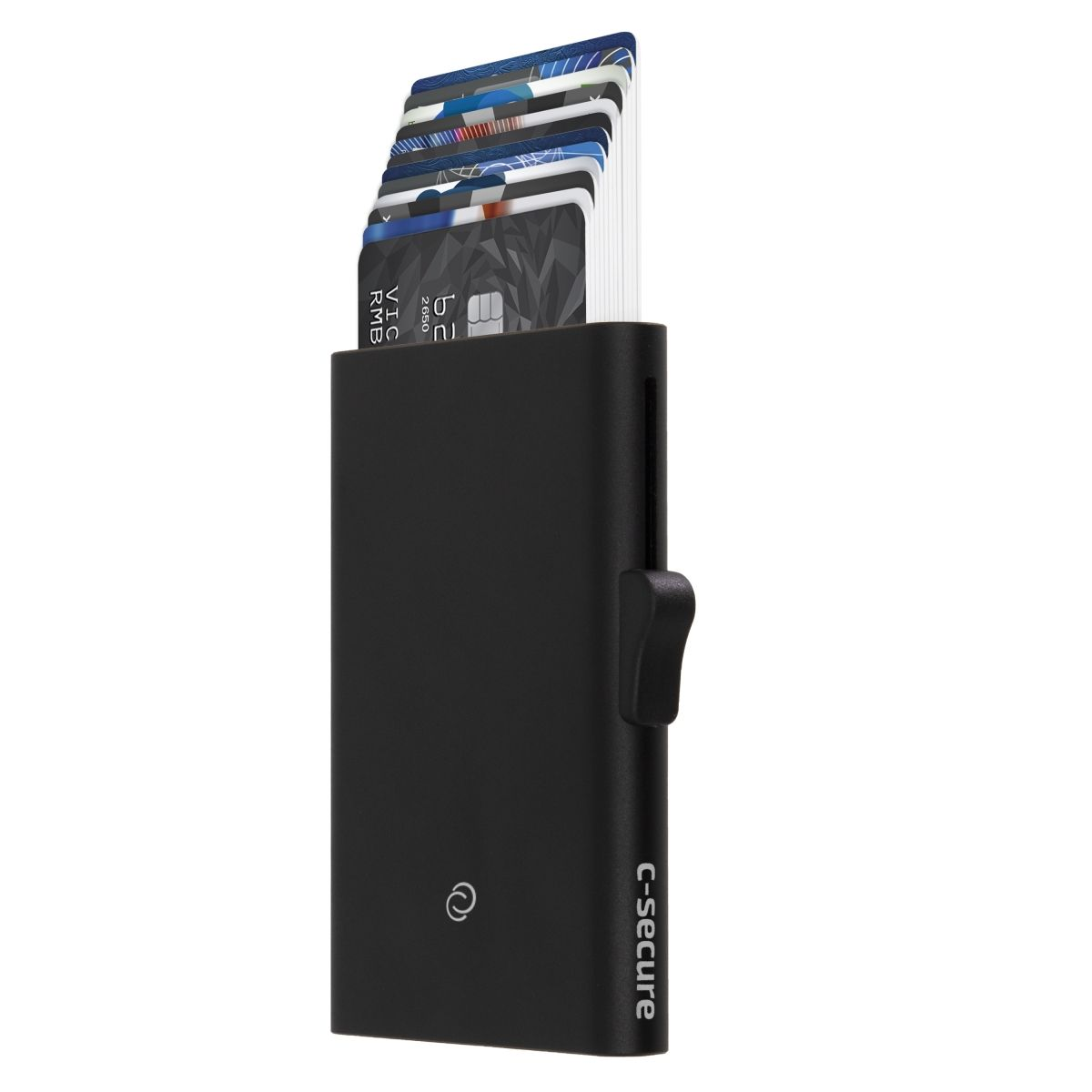 Slim RFID XL Aluminum Card Holder - Black