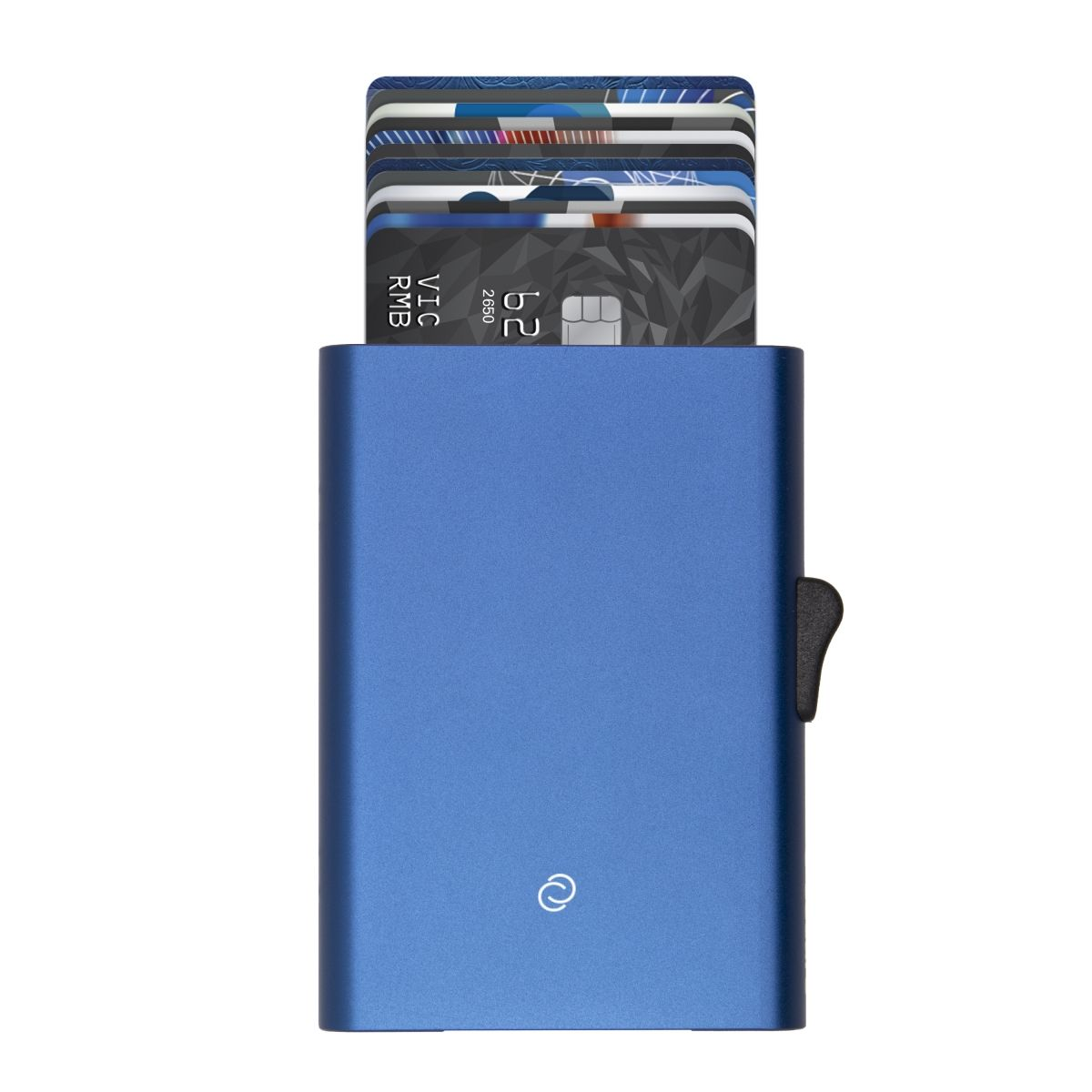 C-Secure Slim RFID XL Aluminum Card Holder - Blue