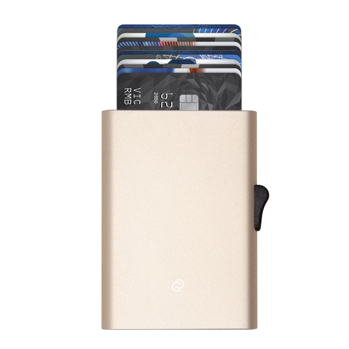 C-Secure Slim RFID XL Aluminum Card Holder - Gold
