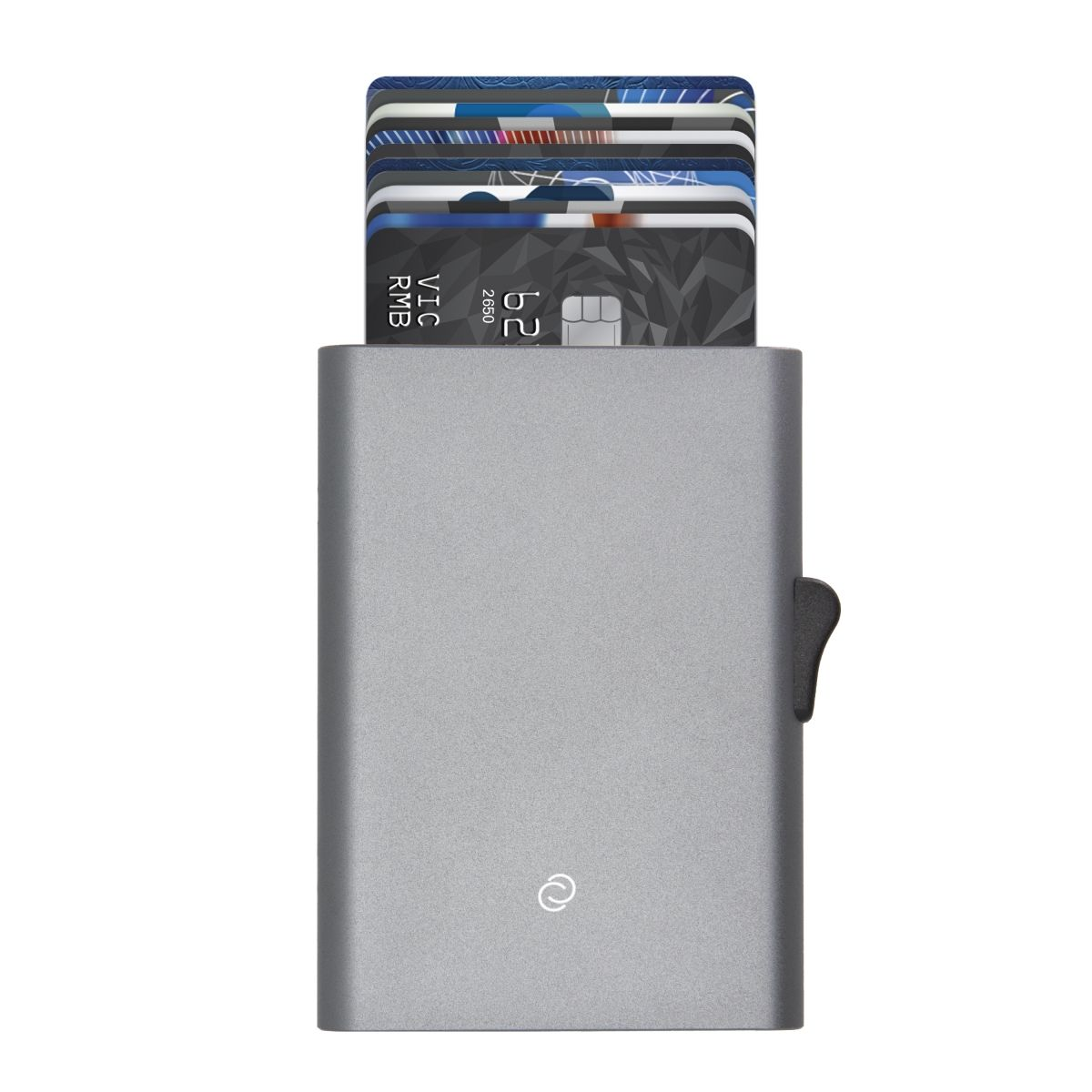 C-Secure Slim RFID XL Aluminum Card Holder - Grey