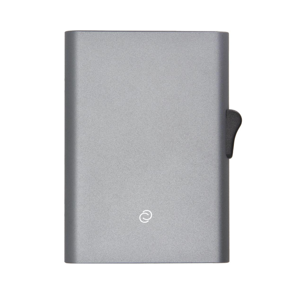 C-Secure Slim RFID XL Aluminum Card Holder - Grey