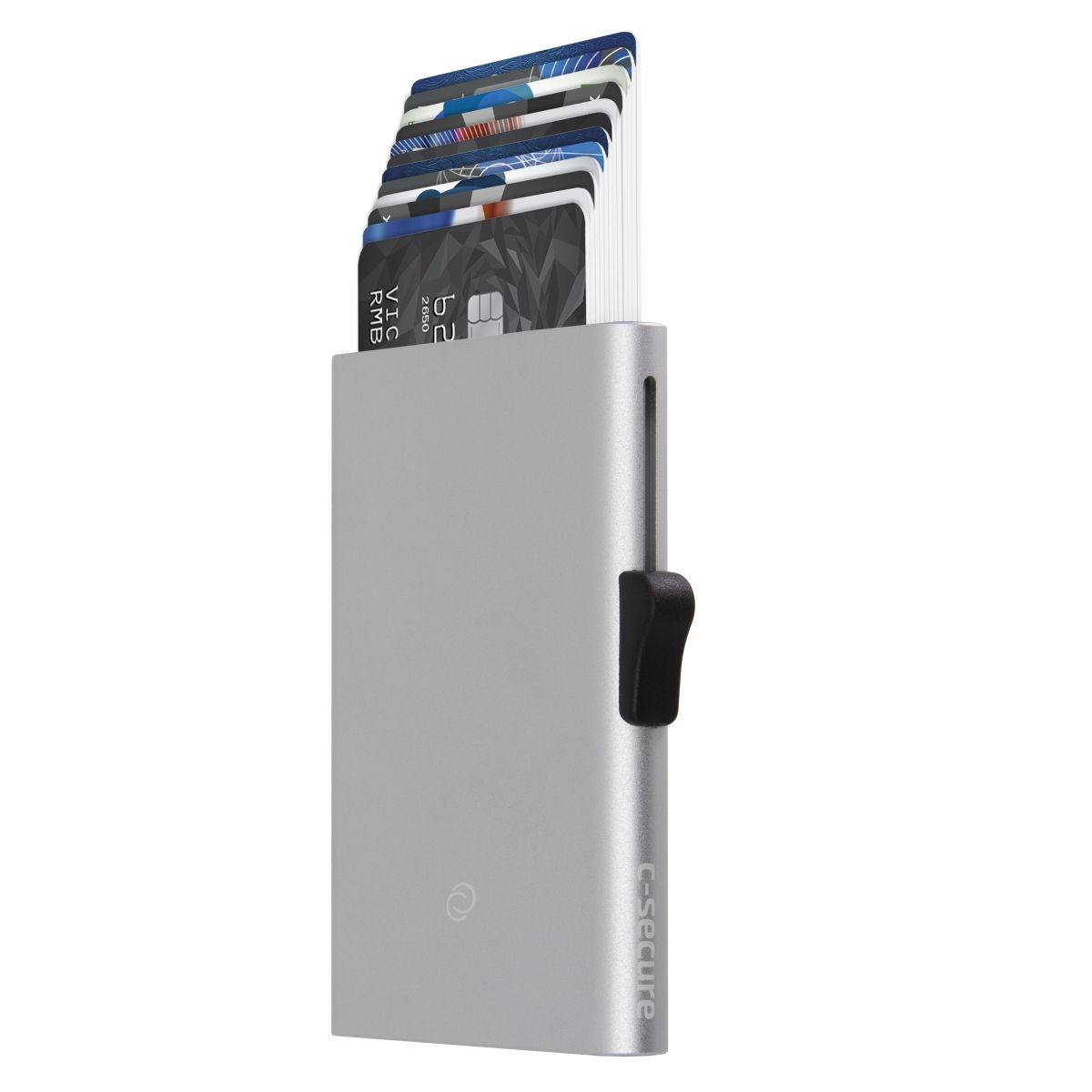 C-Secure Slim RFID XL Aluminum Card Holder - Silver