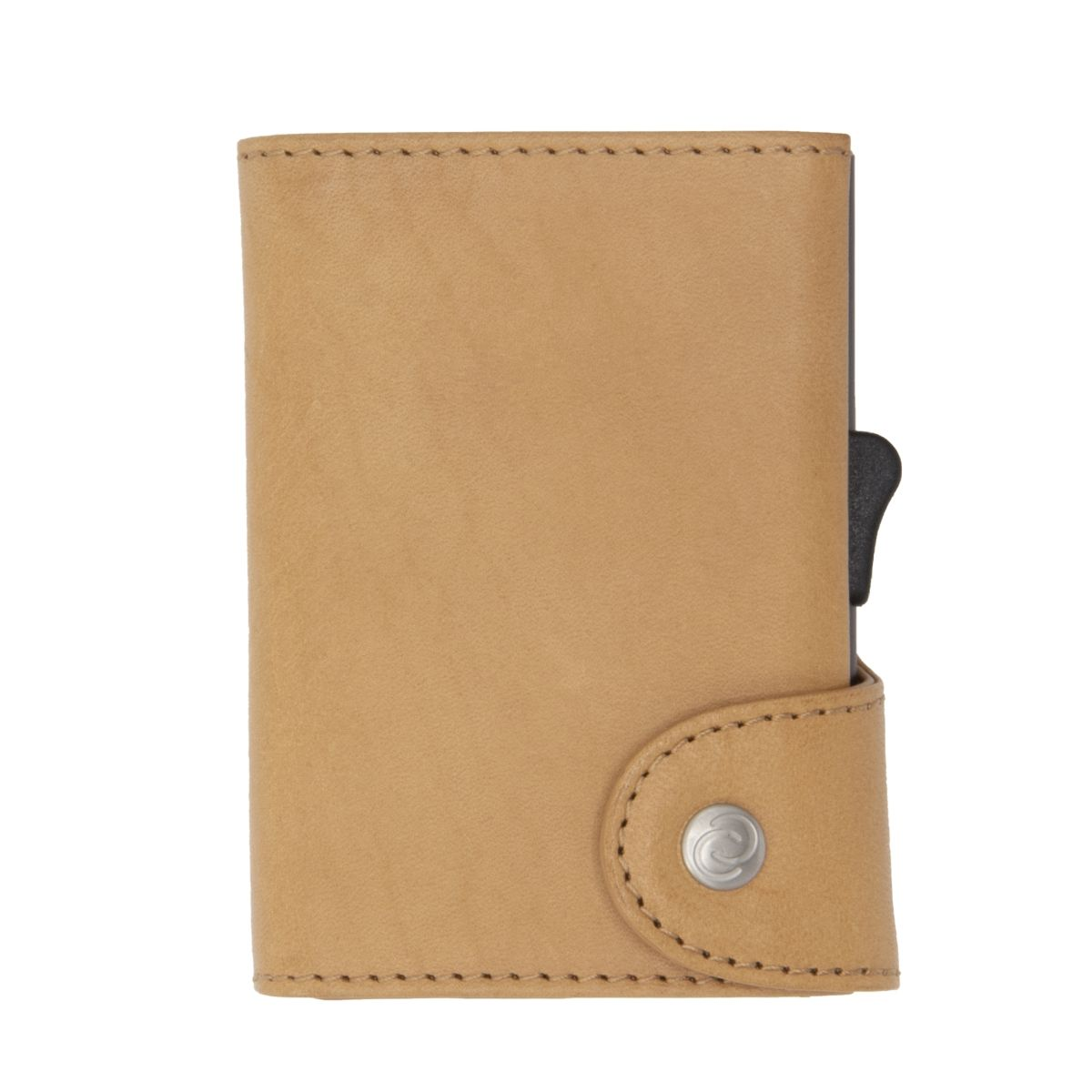XL Aluminum Wallet with Vegetable Genuine Leather - Saddle