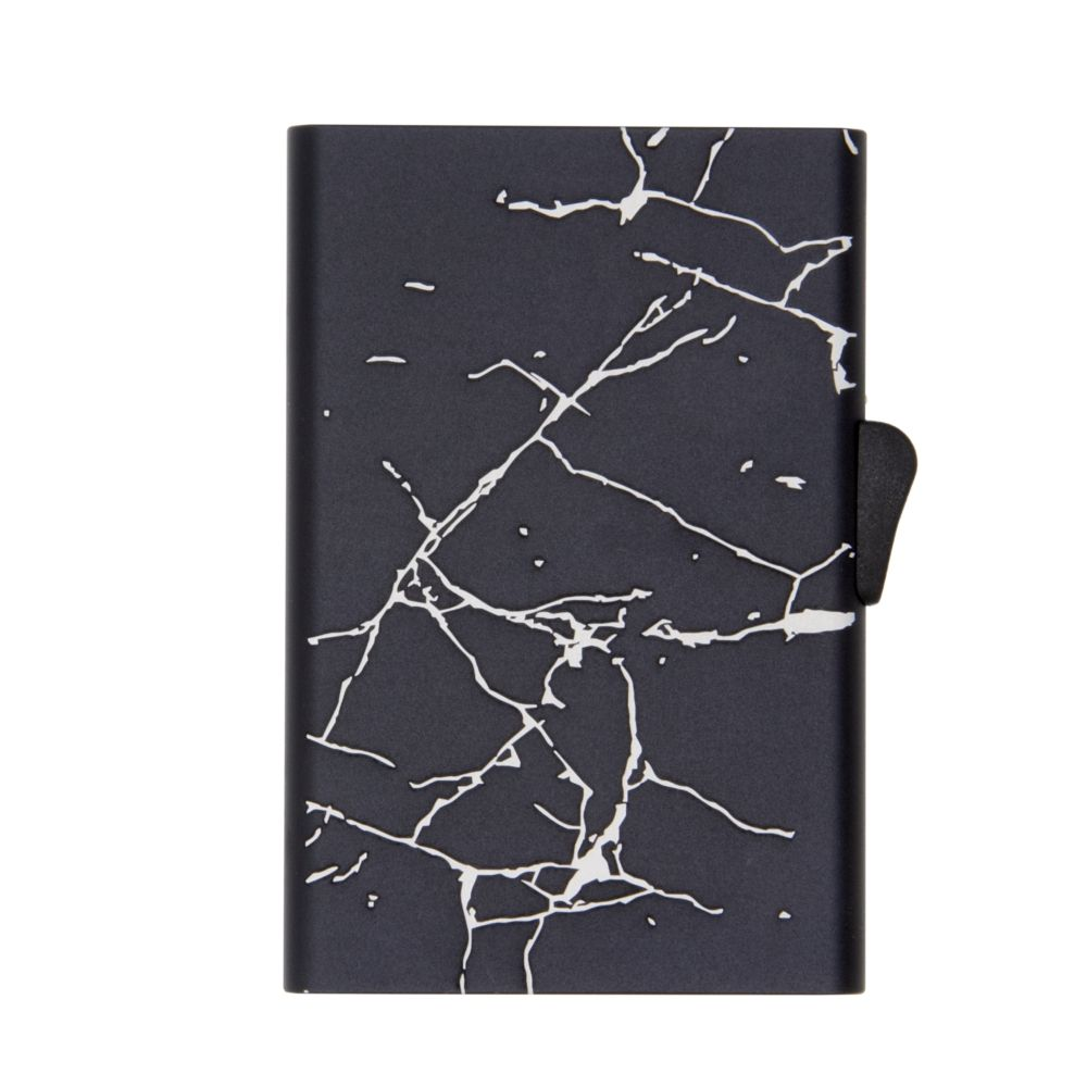 Slim Aluminum Card Holder - Black Marble
