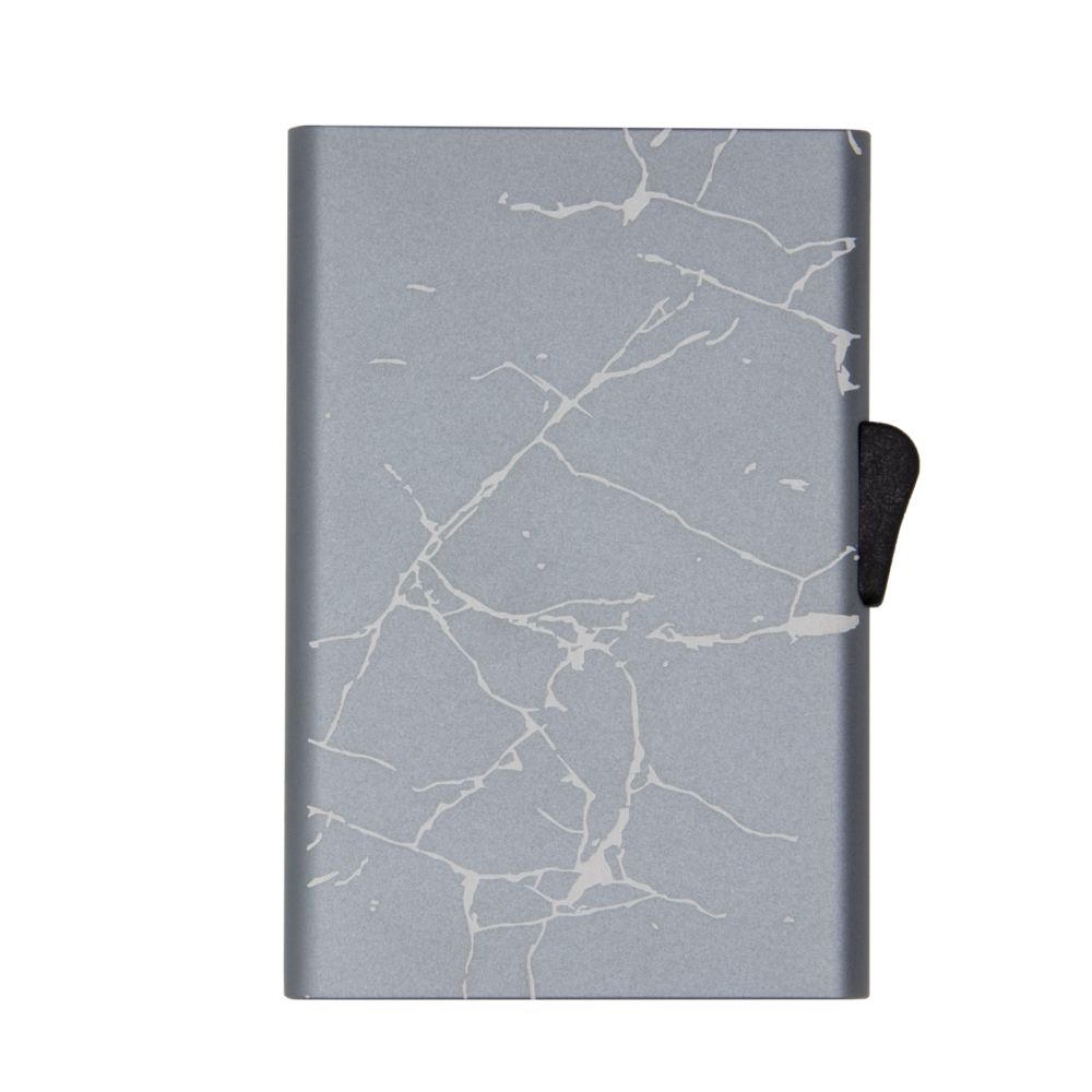 Slim Aluminum Card Holder - Grey Marble