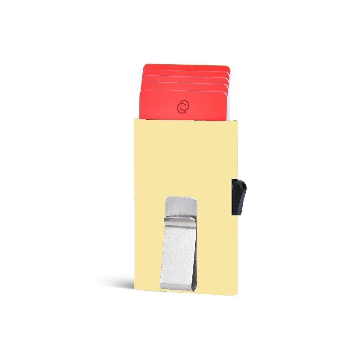 C-Secure ארנק אלומיניום דק בתוספת קליפס - מוזהב