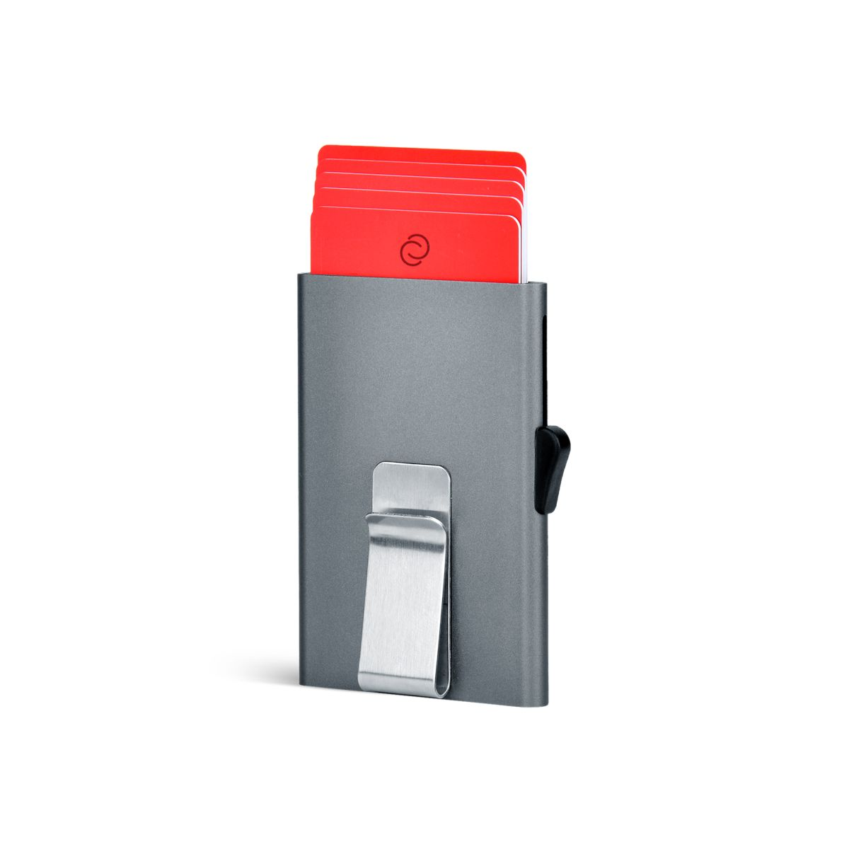 Slim Aluminum Card Holder with Money Clip - Platinium