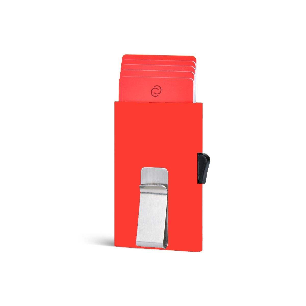 C-Secure ארנק אלומיניום דק בתוספת קליפס - אדום