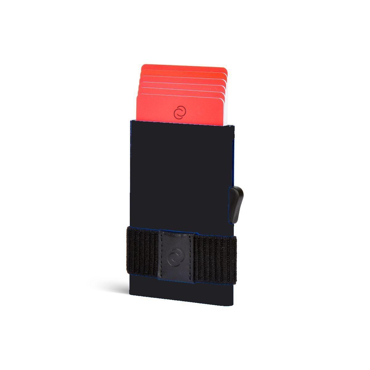 C-Secure ארנק אלומיניום דק עם גומיה לשטרות - שחור