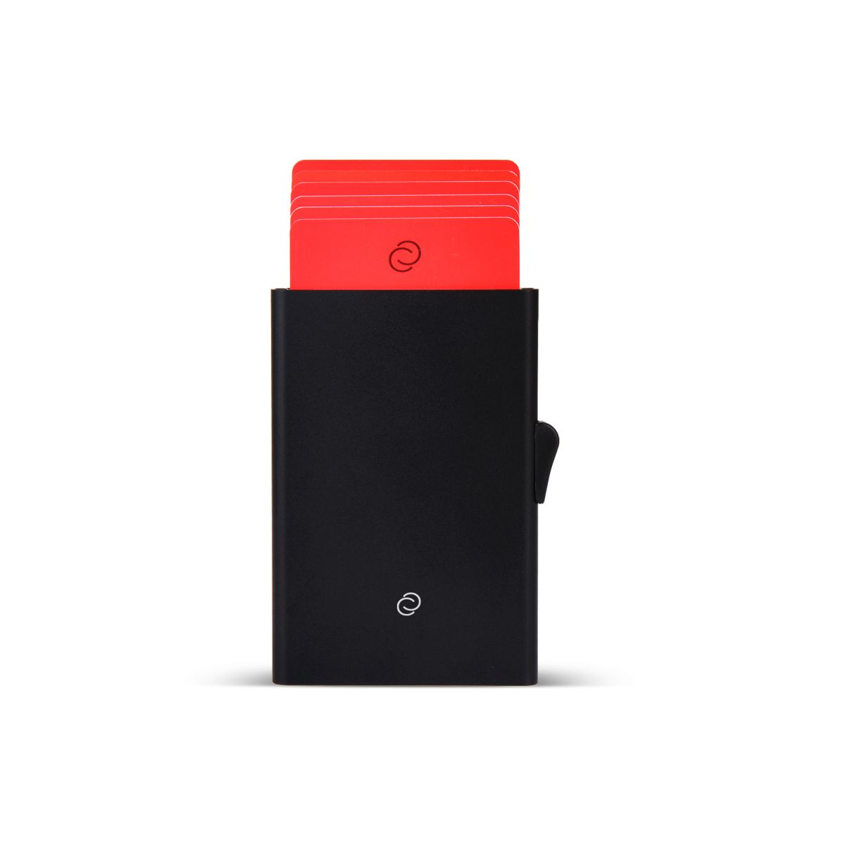 C-Secure ארנק אלומיניום מינימלסטי לכרטיסים - שחור