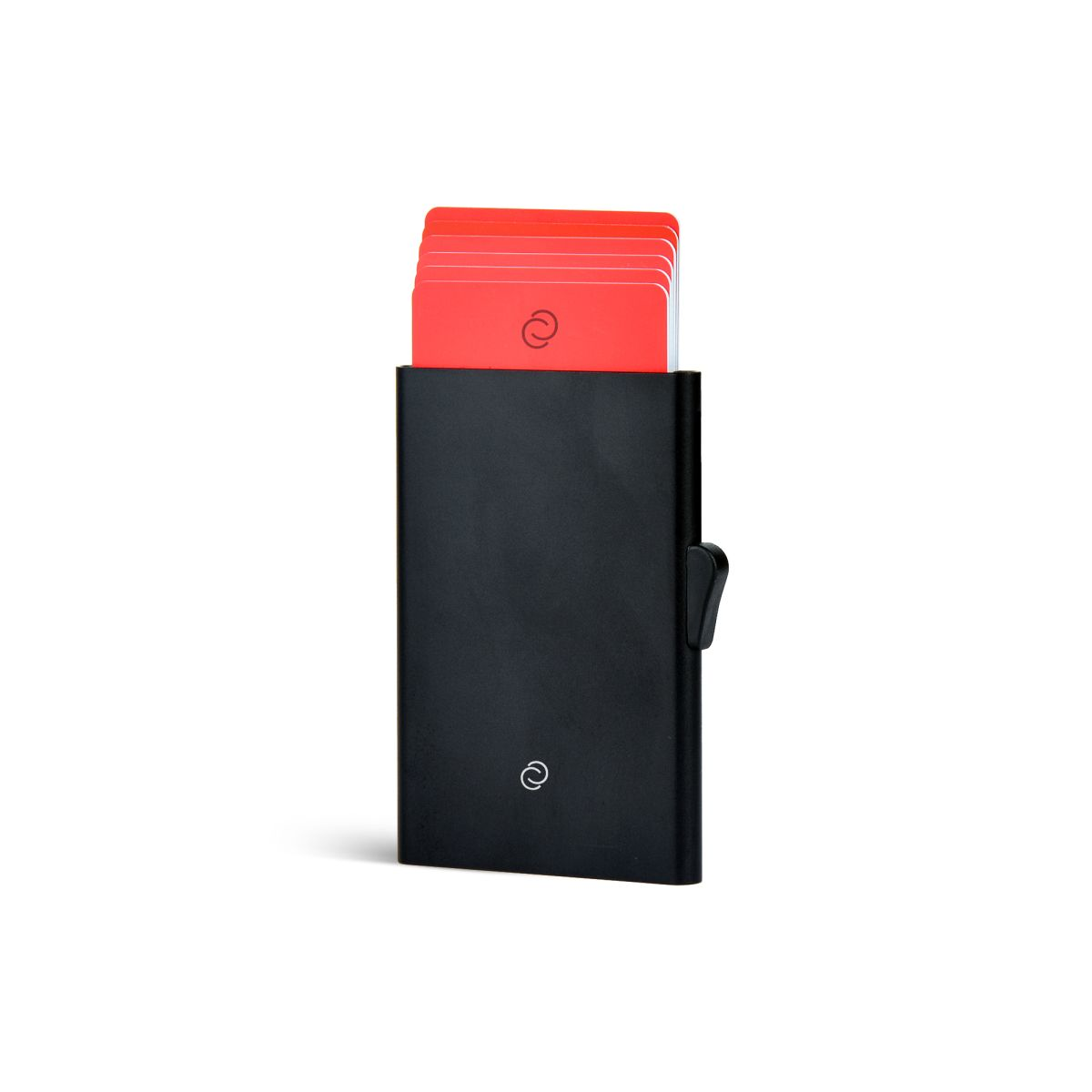 Slim Aluminum Card Holder - Black