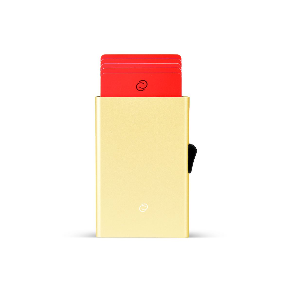 Slim Aluminum Card Holder - Gold
